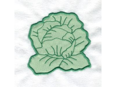 Applique Veggies Embroidery Machine Design