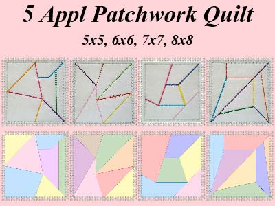 Applique Patchwork Quilt Blocks