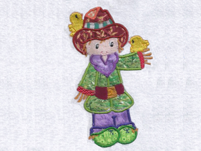 Applique Scarecrows Embroidery Machine Design