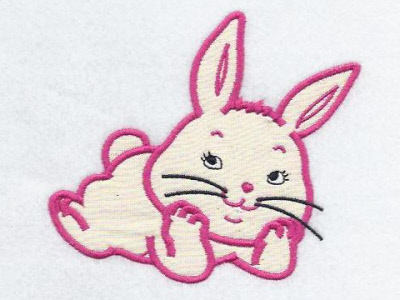 Applique Super Cute Bunnies Embroidery Machine Design