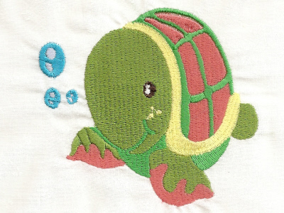 Baby Friends of the Sea Embroidery Machine Design