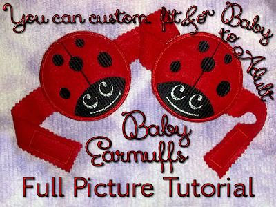 Baby Winter Ear Muffs Embroidery Machine Design