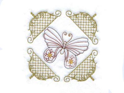 Elegant Butterfly Quilt Blocks Embroidery Machine Design