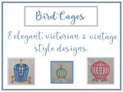 Birdcages Embroidery Machine Design