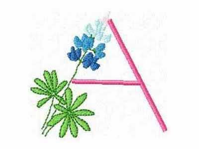 machine embroidery designs dd bluebonnet alphabet set rh designsbysick com Bluebonnet Vector Bluebonnet Flower Clip Art