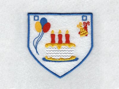 Birthday Buntings Embroidery Machine Design