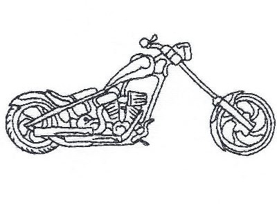 Bike Machine Embroidery Designs