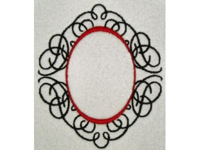 Machine Embroidery Designs Calligraphy Frames Set