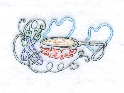 Chef Towels Embroidery Machine Design