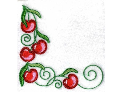 Machine Embroidery Designs Cherry Flowers Set