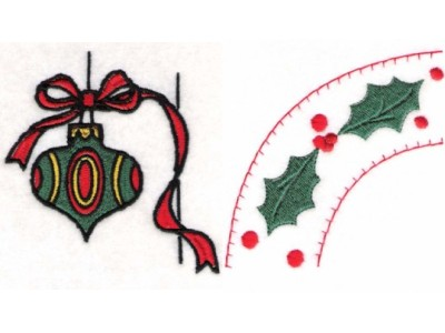 Christmas Borders Embroidery Machine Design