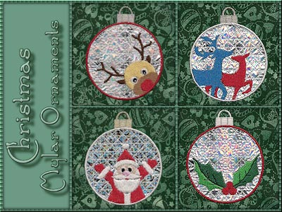 Christmas Mylar Ornaments