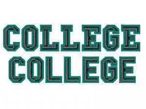 Machine Embroidery Designs - College Outline Font Set