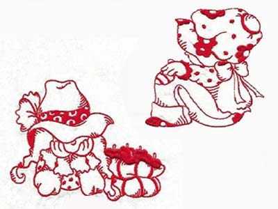 Country Sunbonnets Embroidery Machine Design