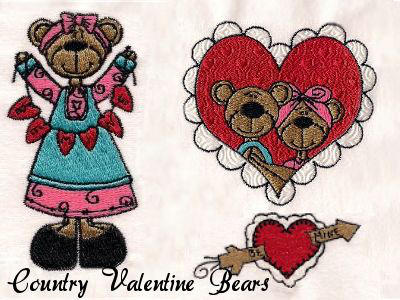 Country Valentine Bears