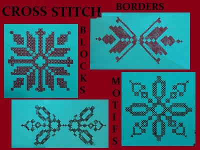Cross Stitch Blocks Borders and Motifs Embroidery Machine Design