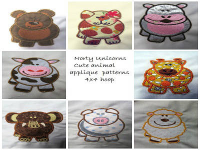 Cute Pudgy Animal Applique