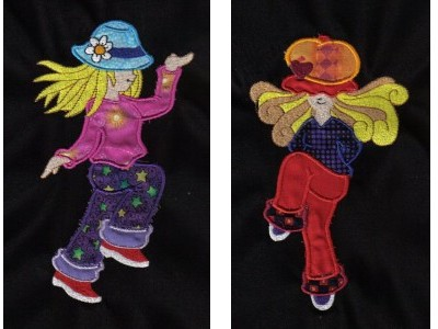 Applique Dancing Sunbonnets