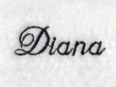 Diana Font Embroidery Machine Design
