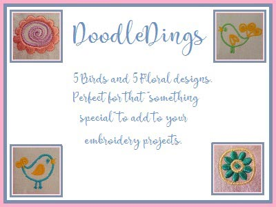 Doodle Dings Embroidery Machine Design