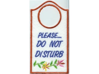Door Hangers Embroidery Machine Design