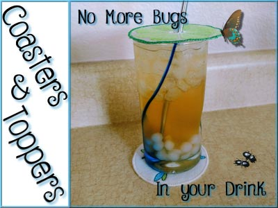 Drink Toppers and Coasters Embroidery Machine Design