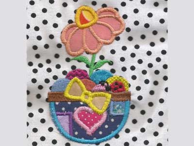 Easter Time Applique Embroidery Machine Design