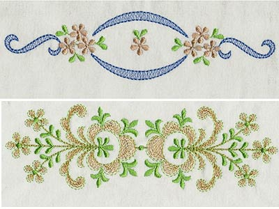 Machine Embroidery Designs Elegant Linen Borders Set