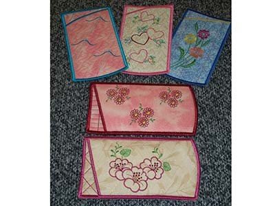 Eyeglass Cases Embroidery Machine Design