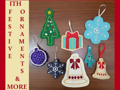 In The Hoop Festive Ornaments and More Embroidery Machine Design
