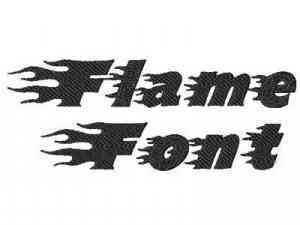 Machine Embroidery Designs - Flame Font Set