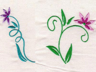 Floral Art Nouveau Embroidery Machine Design