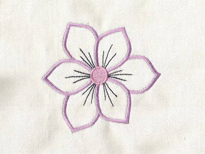Machine Embroidery Designs Flower Power Outlines Set