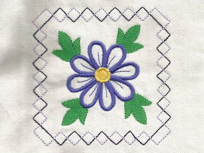 Machine Embroidery Designs Flower Power Quilt Blocks Set