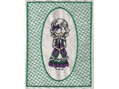 Framed Lacy Bonnet Embroidery Machine Design