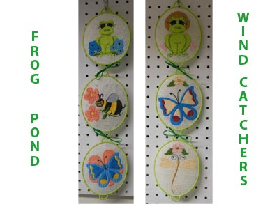 Frog Pond Wind Catchers Embroidery Machine Design