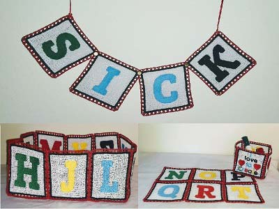 Free Standing Lace Alphabet Machine Embroidery Design Sets