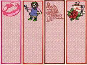 Machine Embroidery Designs Fsl Bookmarks Set