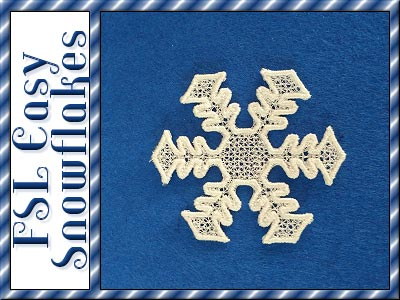 FSL Easy Snowflakes Embroidery Machine Design