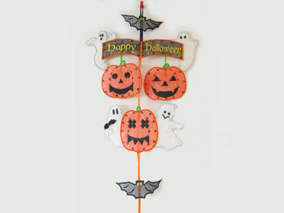Halloween Ghost Greeter Embroidery Machine Design