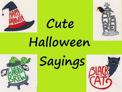 Cute Halloween Sayings Embroidery Machine Design