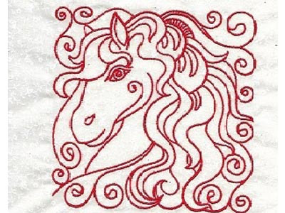 Horse Blocks Embroidery Machine Design