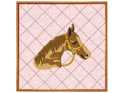Large Horse Pot Holders Embroidery Machine Design