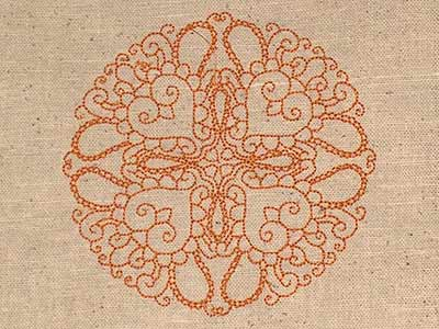 Machine Embroidery Designs Indian Circles Set