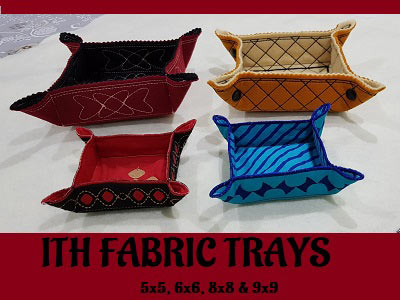 ITH Fabric Trays Embroidery Machine Design
