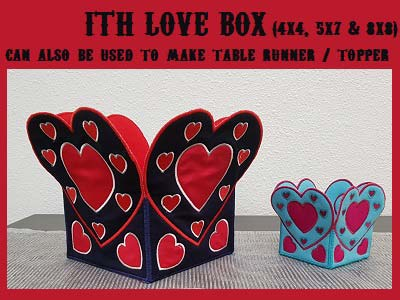 In The Hoop Love Box Embroidery Machine Design