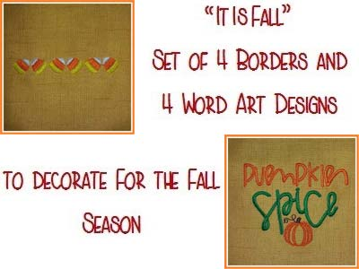 It Is Fall Embroidery Machine Design