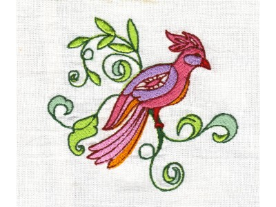 Machine Embroidery Designs Jacobean Fantasy Birds Set