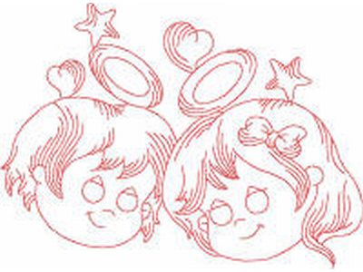 JN Lil Angels 2 Embroidery Machine Design