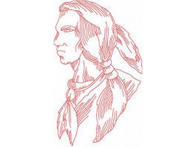 JN Native American Faces Embroidery Machine Design